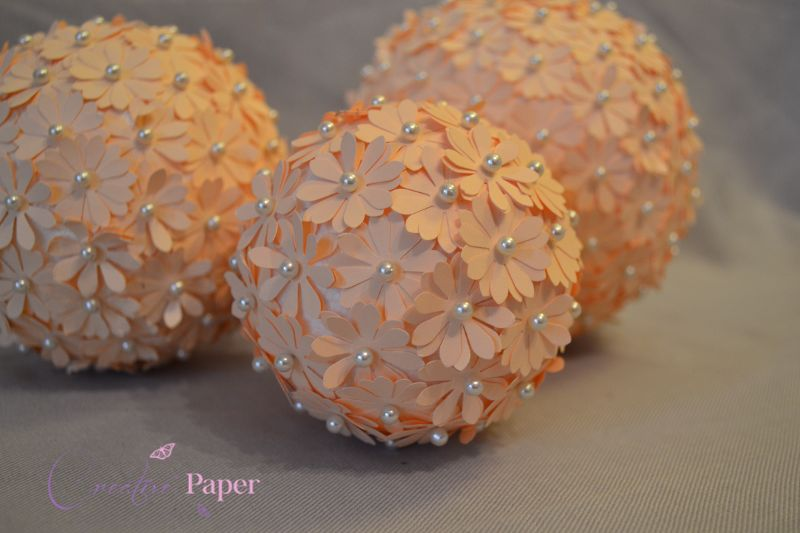 Mingiute din Flori de Hartie Peach