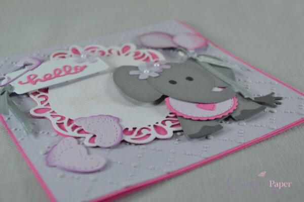 Invitatie Botez Cute Elephant