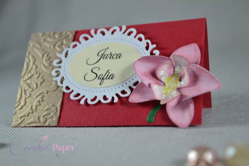 Place card Orchidea