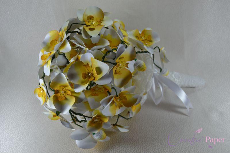 Buchet Mireasa Orhidee din Hartie