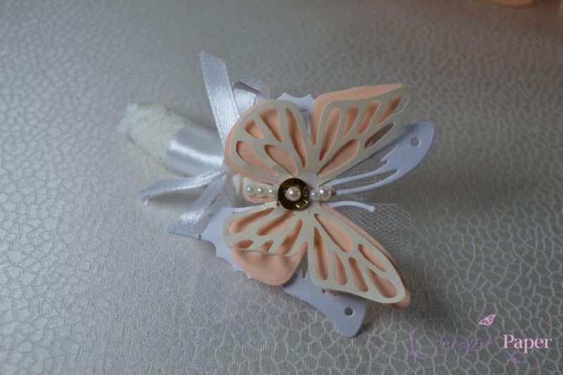 Cocarda Nunta Butterfly