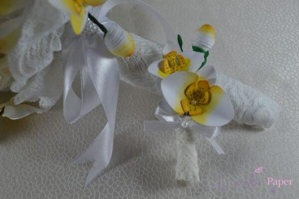 Cocarda Nunta Orchidee