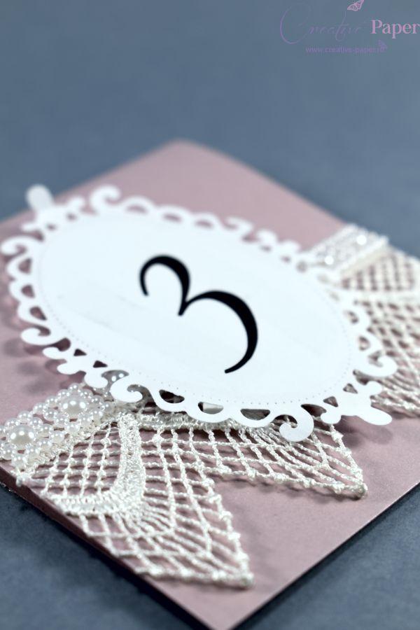 Numere de Masa Nunta Vintage Handmade