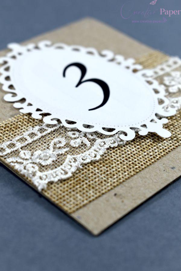 Numere de Masa Nunta Traditionale Handmade