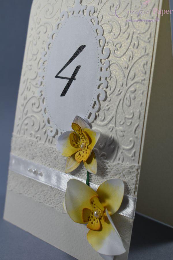 Numere Masa Flori Hartie Orchidee
