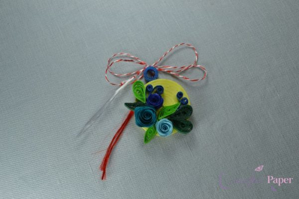 Martisoare Quilling Turquoise