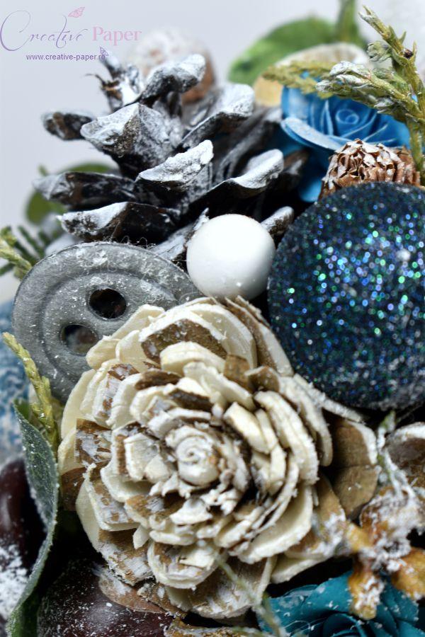 Decoratiune Craciun Handmade Blue Christmas