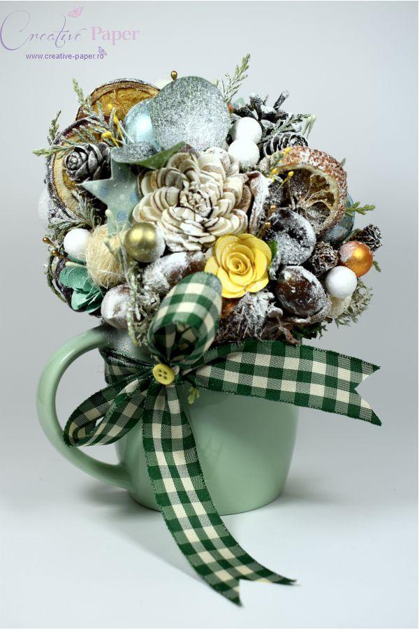 Decoratiune Craciun Handmade Green Christmas