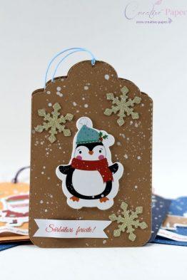 Felicitari Craciun Agatatoare Pinguin