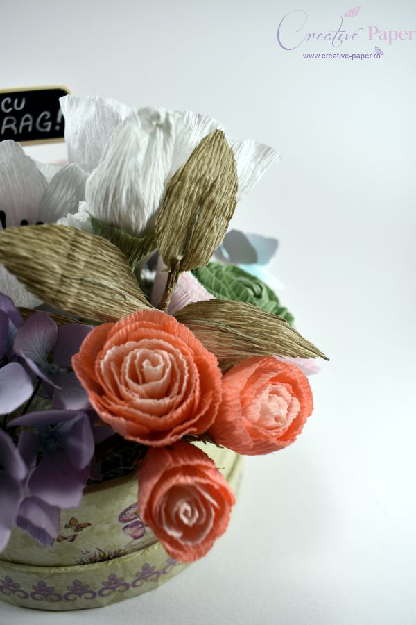 Aranjamente Flori de Hartie Pastel