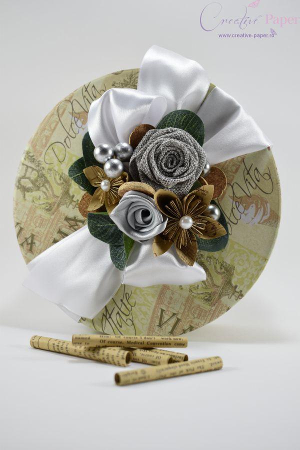 Caiet Amintiri Nunta Travel Handmade