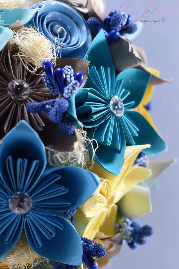 Lumanare Botez Baiat Handmade Origami