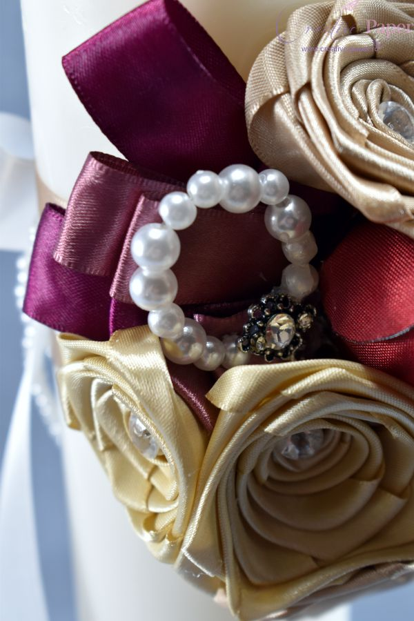Lumanari Nunta Elegante Handmade