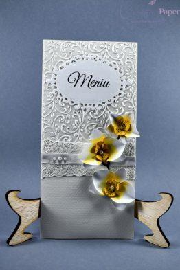 Meniuri Nunta Flori Hartie Orchidee