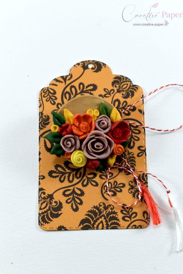 Martisoare Handmade Fimo Flori Colorate