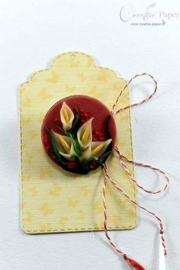 Martisoare Handmade Fimo Flori Cale