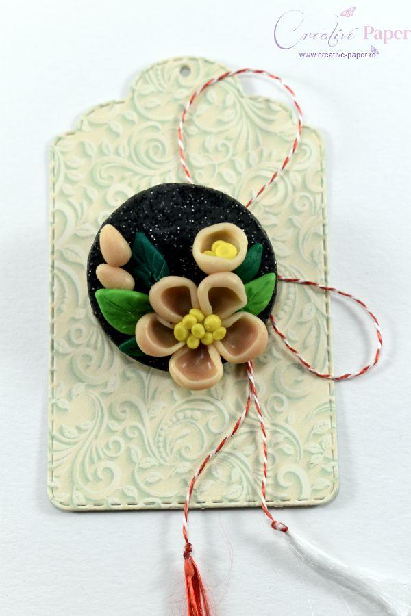 Martisoare Handmade Fimo Floare de Camp