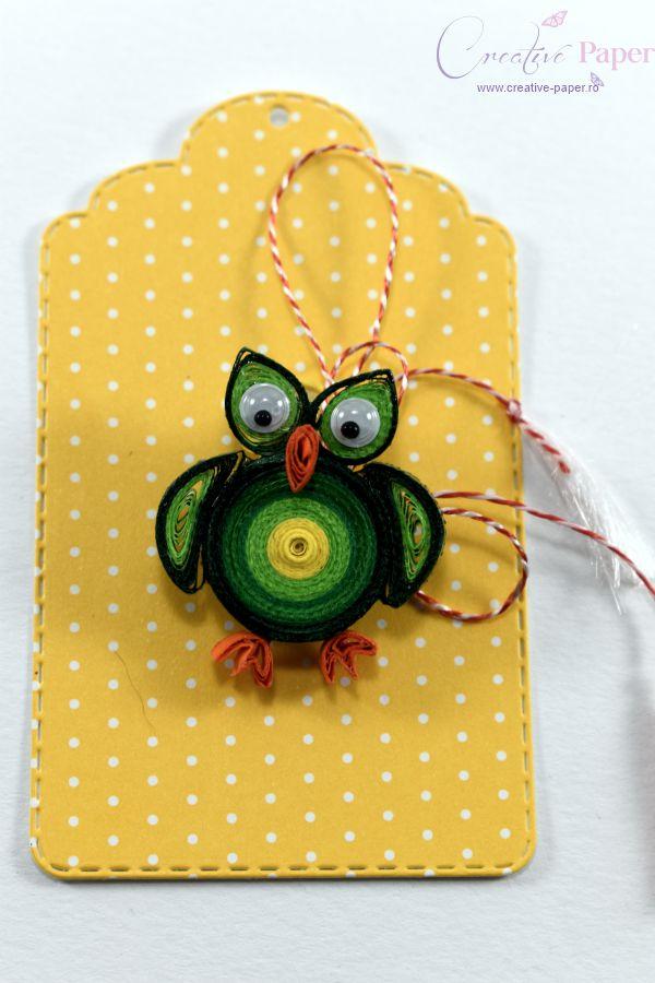 Martisoare Handmade Quilling Bufnita