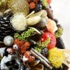 Aranjamente de Craciun Handmade Bradut Portocaliu Galben
