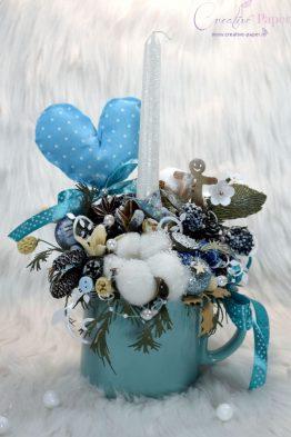 Aranjamente de Craciun Handmade Cana Albastra