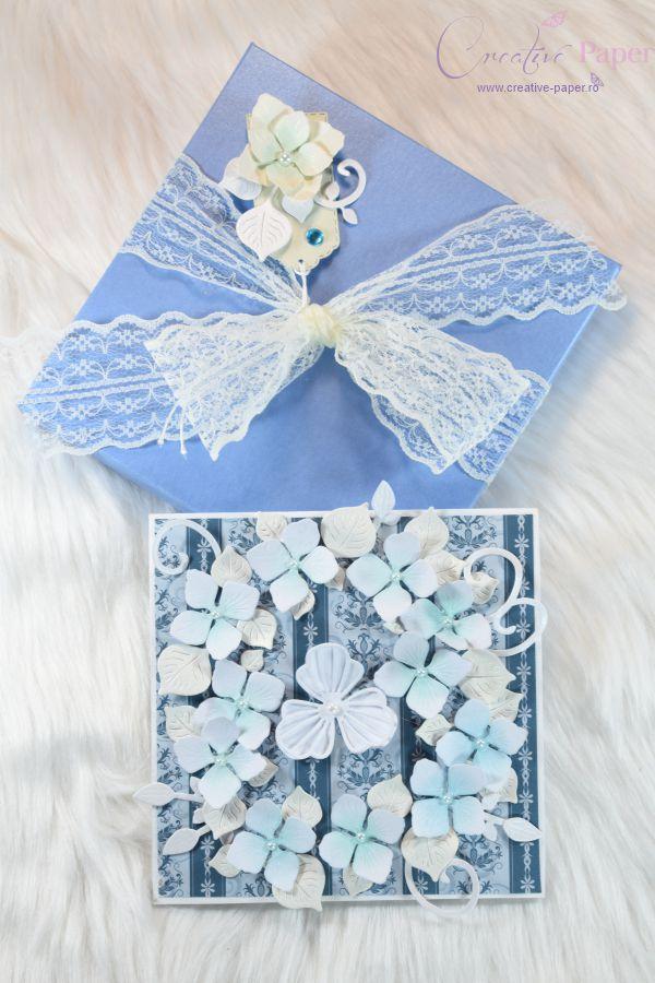Felicitari Handmade Blue Hortensia