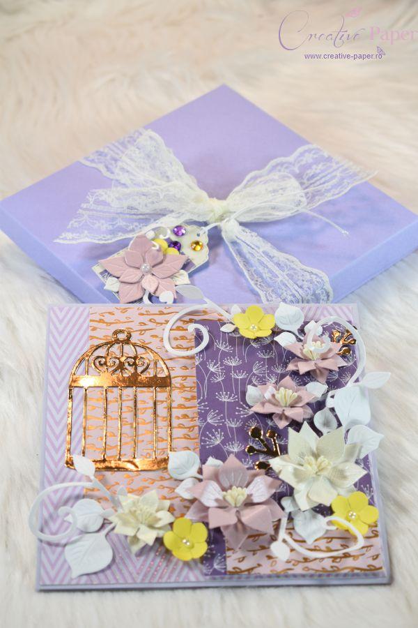 Felicitari Handmade Gold Birdhouse