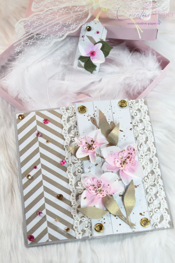 Felicitari Handmade Pink Orchideea