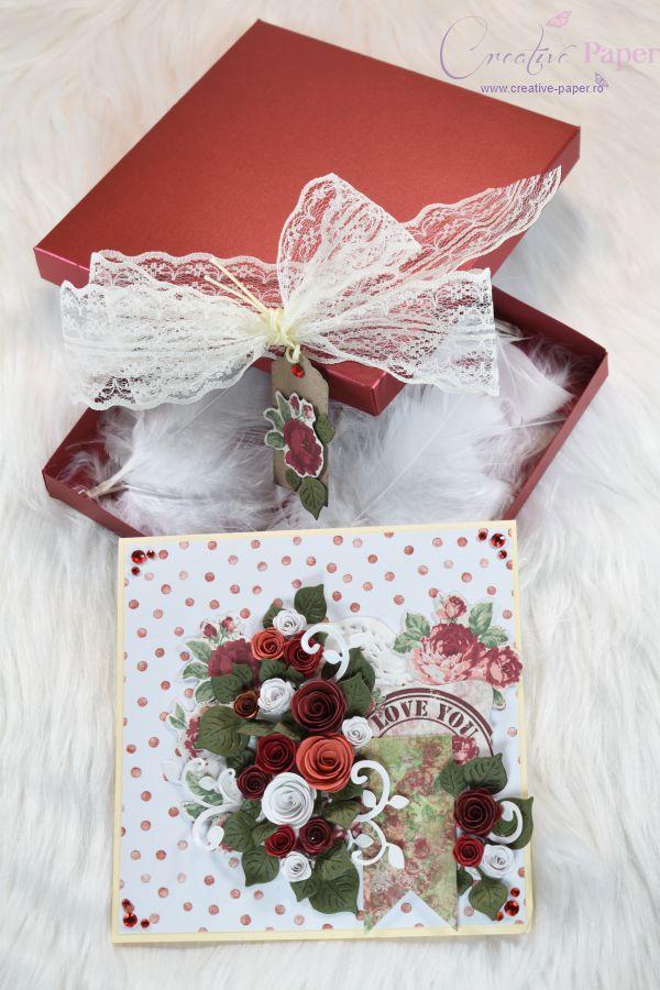 Felicitari Handmade Vintage Rose