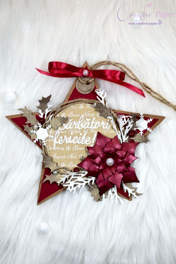Felicitari de Craciun Handmade Stea Rosie