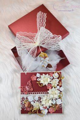 Felicitari Handmade Elegant Burgundy