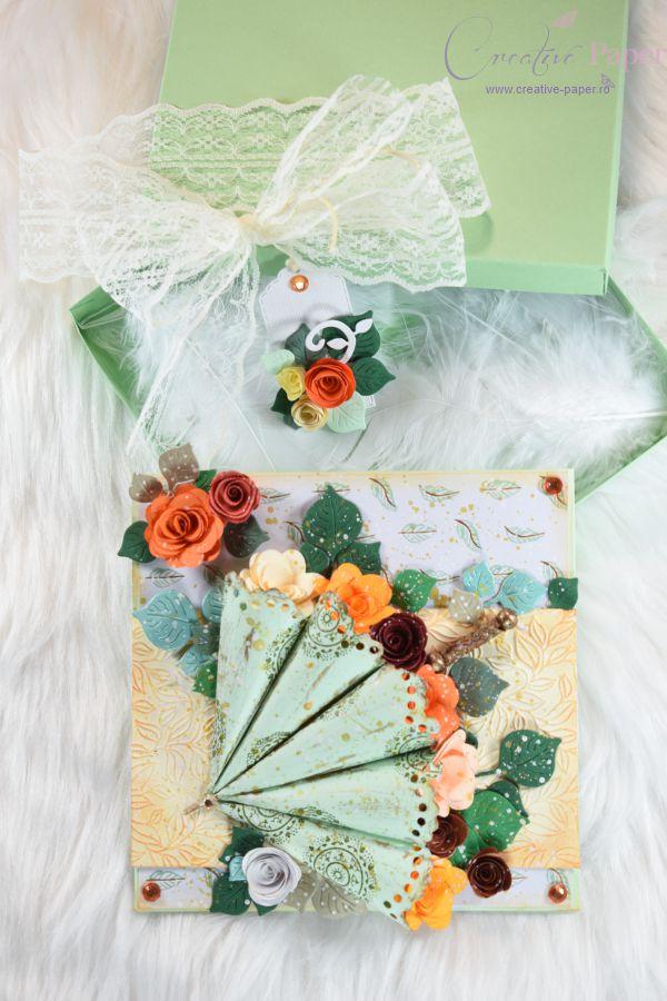 Felicitari Handmade Flowerish Umbrella
