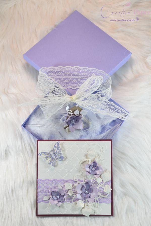Felicitari Handmade Purple Orchideea