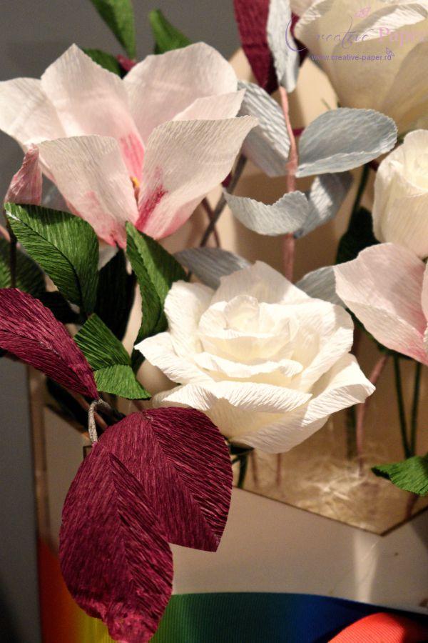 Aranjamente Flori de  Hartie Magnolie