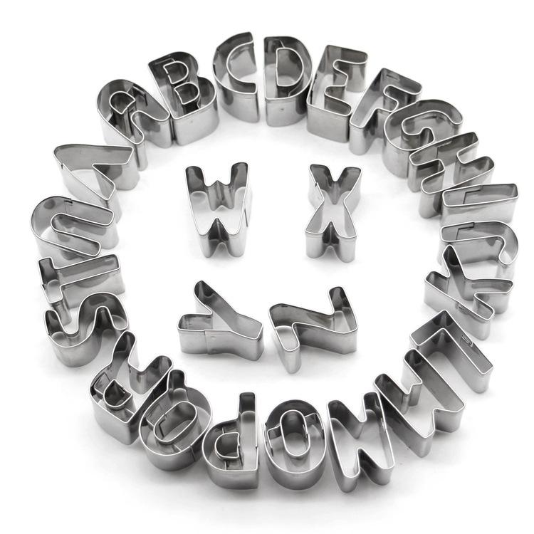 Set Litere Decupare din Inox ( 26 bucati )
