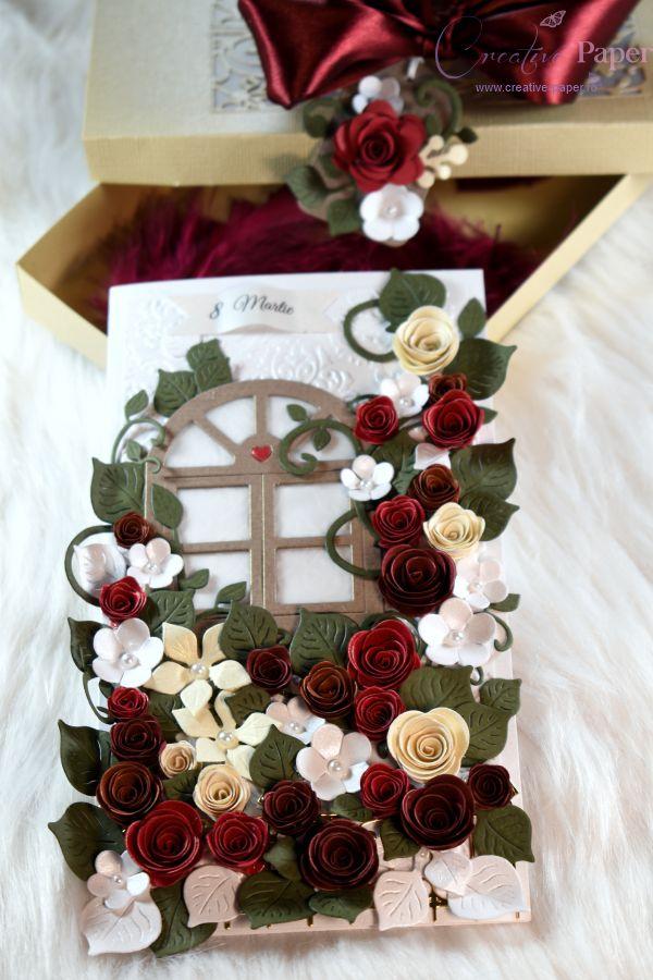 Felicitari Handmade Romantic Garden