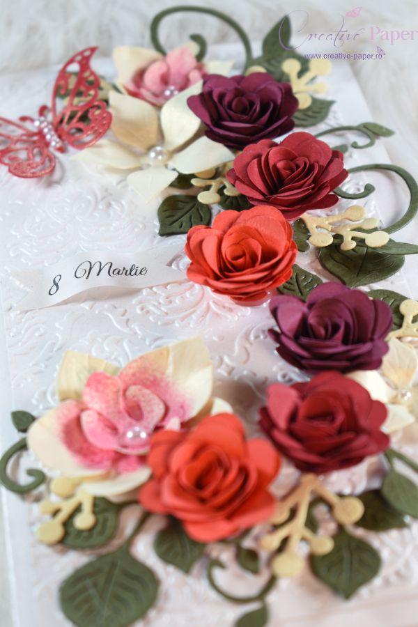 Felicitari Handmade 8 Martie Spring Flowers
