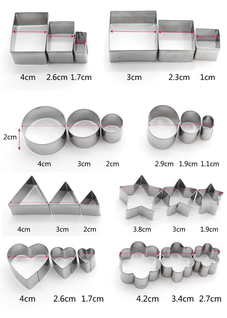 Set Forme Decupare din Inox ( 24 bucati )