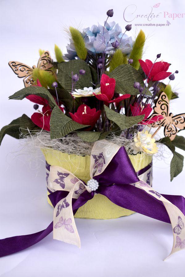 Aranjamente Flori Hartie Hortensie