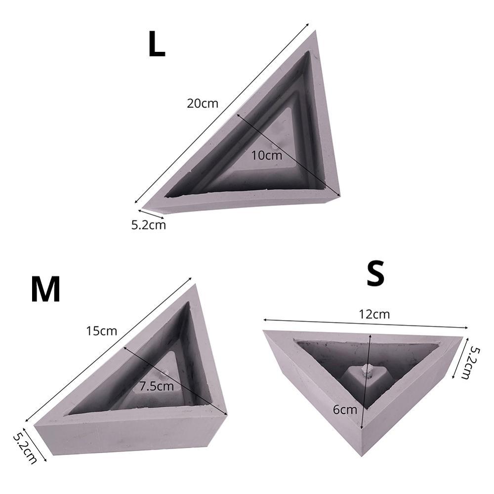 Matrite Silicon Ghiveci Triunghiular Colaj