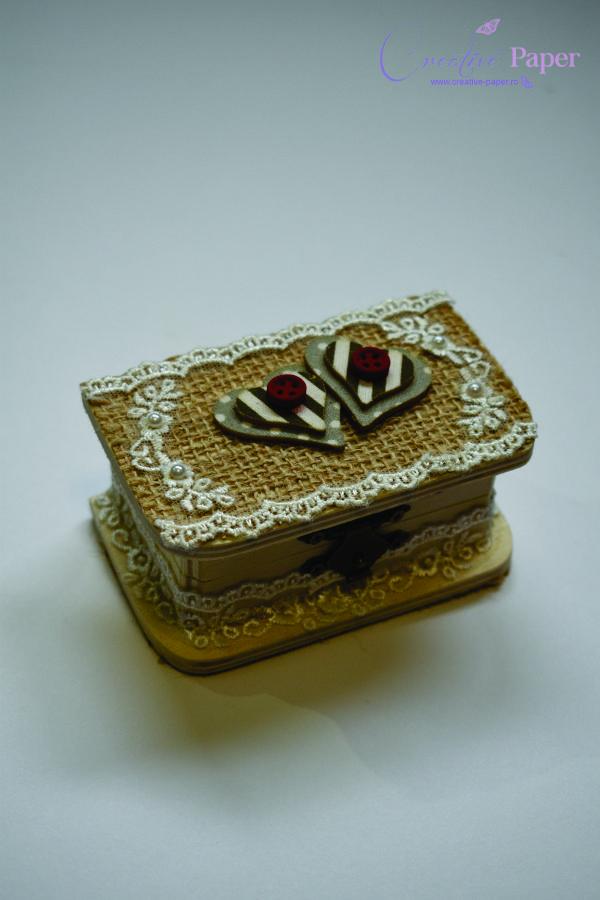 Cutie Verighete Nunta Traditionala Handmade